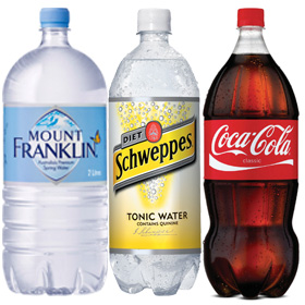 Examples of plastic bottles that pay 10c
