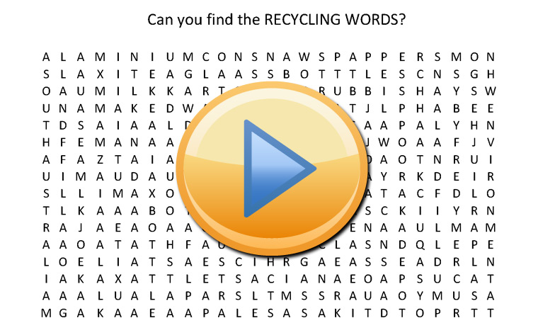 Recycle Word Game for Children